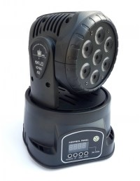 Световой прибор Lixada Mini Moving Head Wash RGBW 7x10W